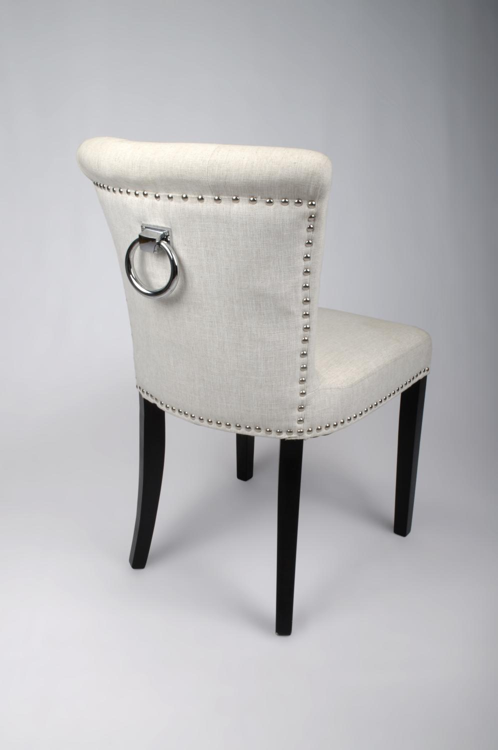 Regal Plush Natural Linen Style Upholstered Dining Or